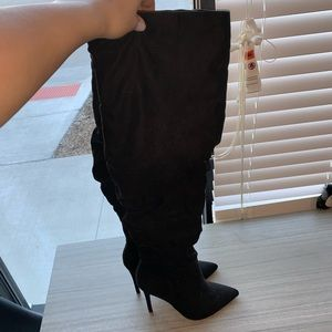 Over The Knee Heeled Boots - NWOT